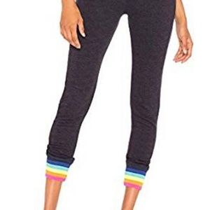 Sundry Drawstring Pants with Rainbow Cuffs